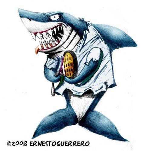 dibujos tiburones